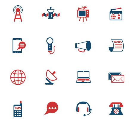 media vector color icons for web and user interface design