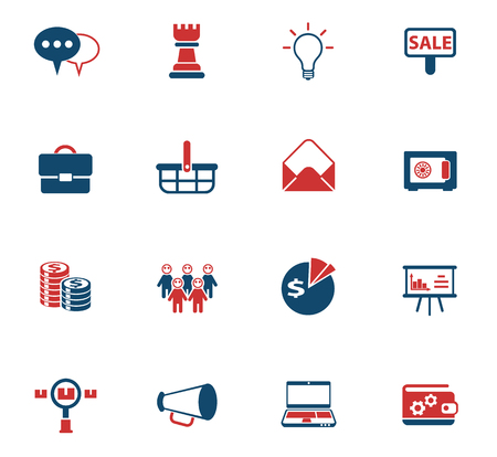 marketing vector color icons for web and user interface design Illustration