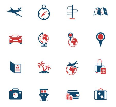 icônes vectorielles de couleur de voyage pour la conception d'interfaces Web et utilisateur