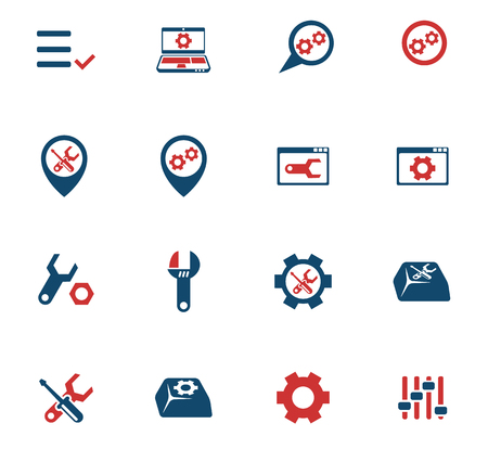 Settings color vector icons for web and user interface design Фото со стока - 105284609