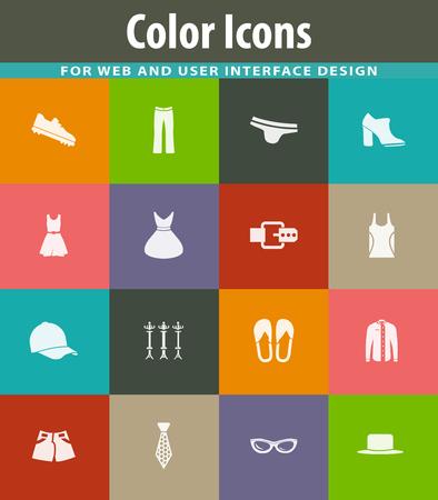 Icone di vettore di vestiti per la progettazione dell'interfaccia utente