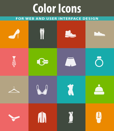 Clothes vector icons for user interface design Illustration