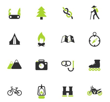 aktywnej rekreacji wektorowe ikony kolorów do projektowania stron internetowych i interfejsu użytkownika