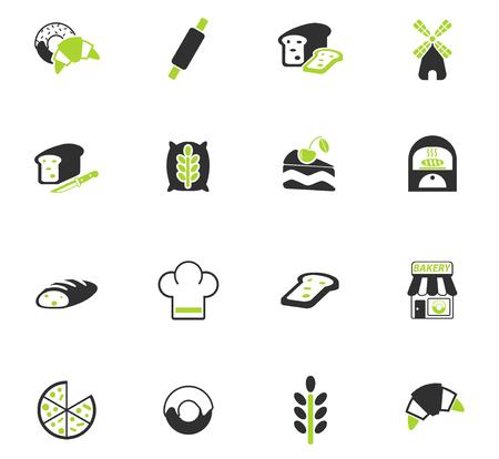 icônes web de boulangerie pour la conception d'interface utilisateur