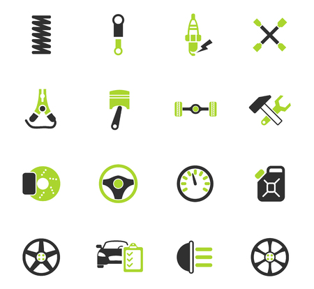 car shop color vector icons for web and user interface design