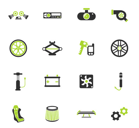 car shop color vector icons for web and user interface design Stock Vector - 112204199