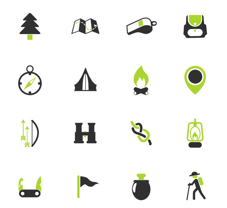 day of scouts vector icons for web and user interface design Vector Illustratie