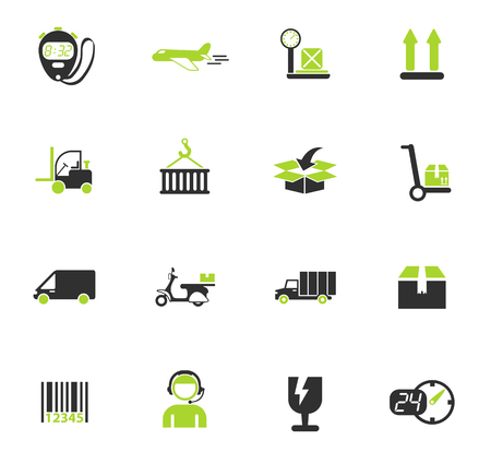delivery color vector icons for web and user interface design Illustration