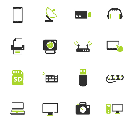 devices color vector icons for web and user interface design