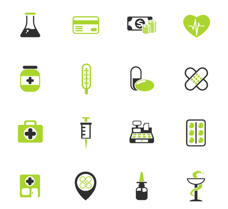 drug store vector icons for web and user interface design