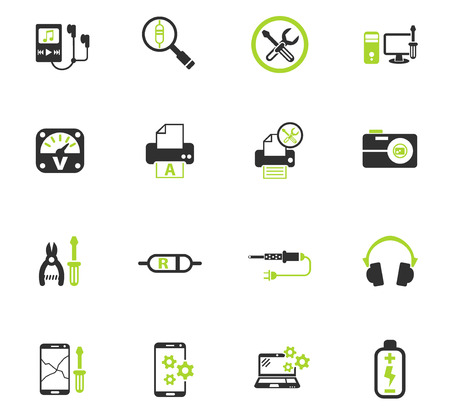 electronics repair web icons for user interface design Illustration