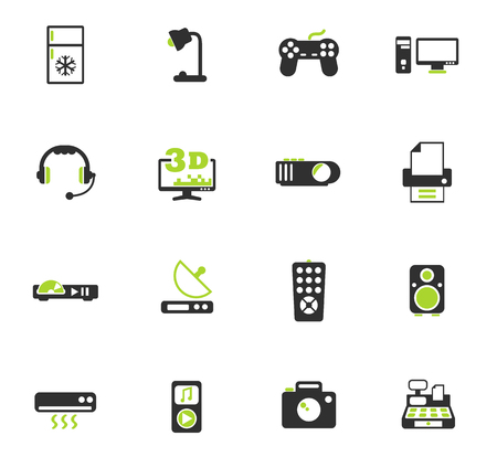 electronics supermarket color vector icons for web and user interface design