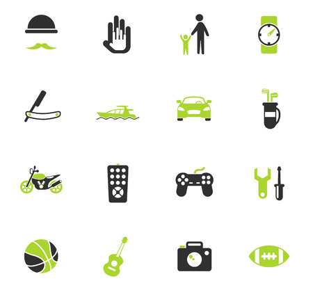 father day vector icons for web and user interface design Illusztráció