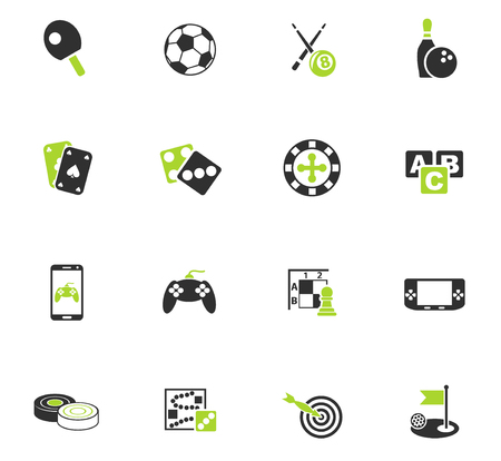 games web icons for user interface design