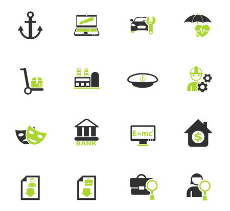 job search color vector icons for web and user interface design