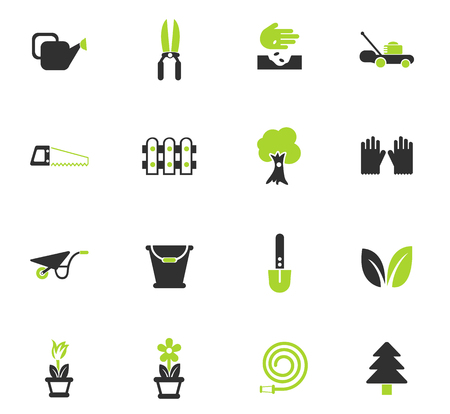 landscape design vector icons for web and user interface design Illustration