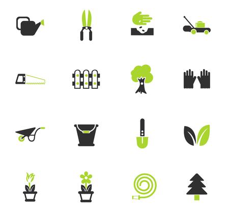landscape design vector icons for web and user interface design Illustration