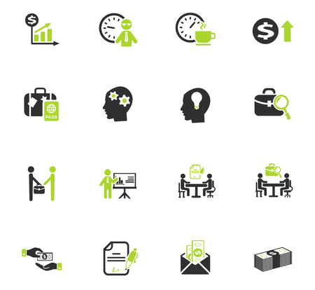 office life web icons for user interface design