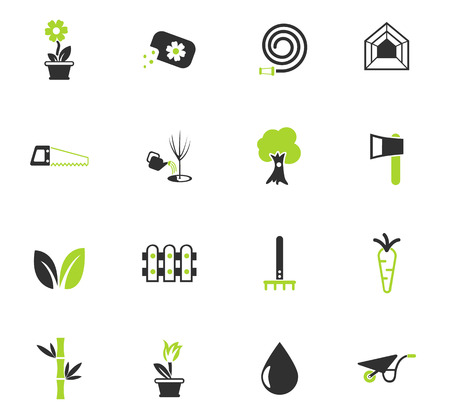plants color vector icons for web and user interface design  イラスト・ベクター素材