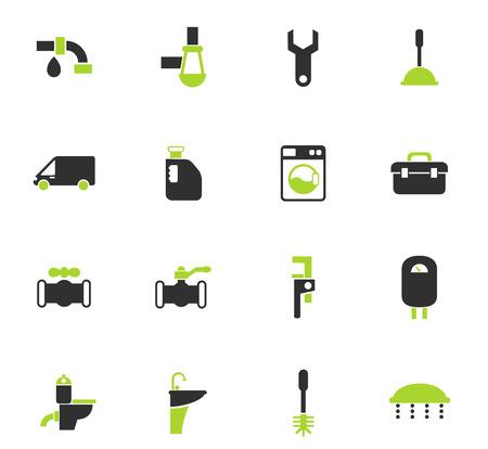 Sanitärservice-Vektorsymbole für Web- und Benutzeroberflächendesign
