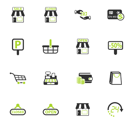 shop vector icons for web and user interface design