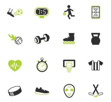 sportowe kolorowe ikony wektorowe do projektowania stron internetowych i interfejsu użytkownika