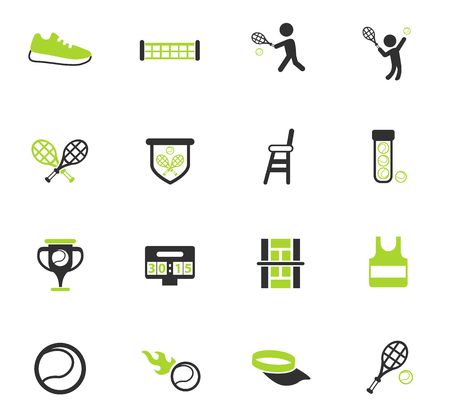 tennis vector icons for web and user interface design Illustration