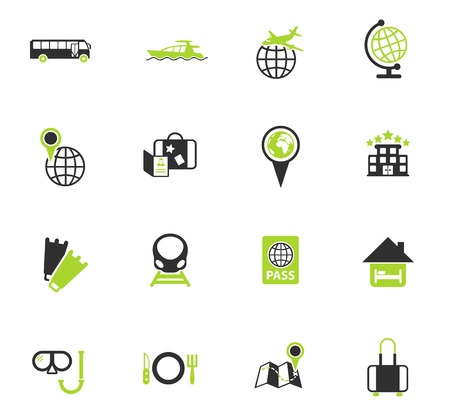travel color vector icons for web and user interface design