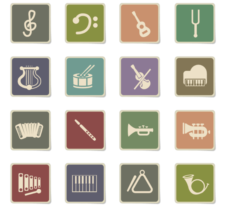 classic instruments web icons for user interface design