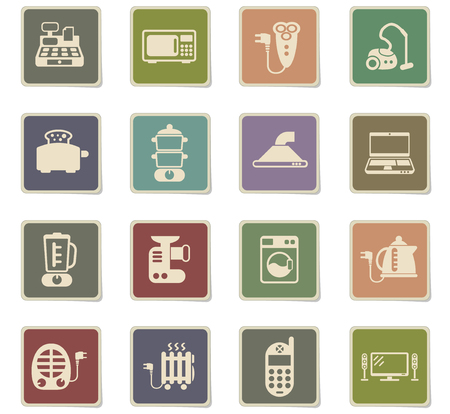 electronics supermarket vector icons for web and user interface design
