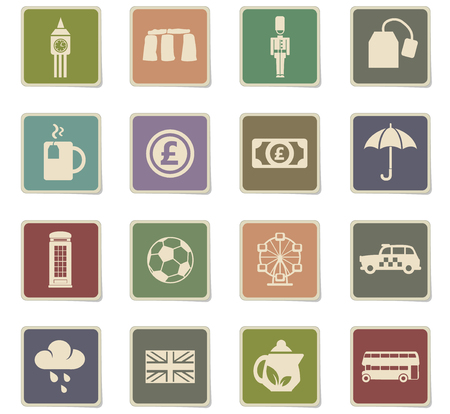 england web icons for user interface design Illustration