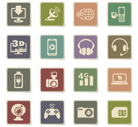 hi tech web icons for user interface design