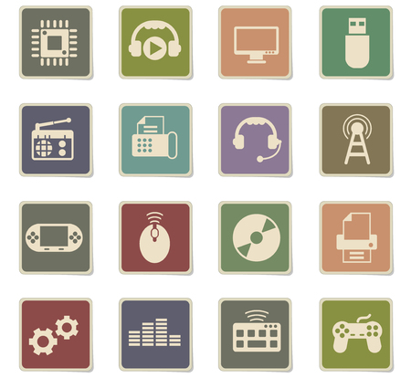 hi tech vector icons for web and user interface design Ilustrace
