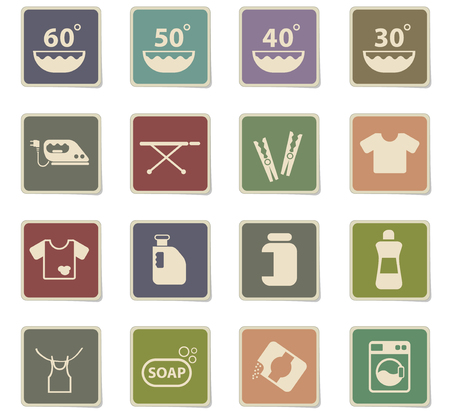 laundry vector icons for web and user interface design