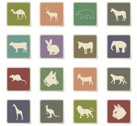 mammals web icons for user interface design