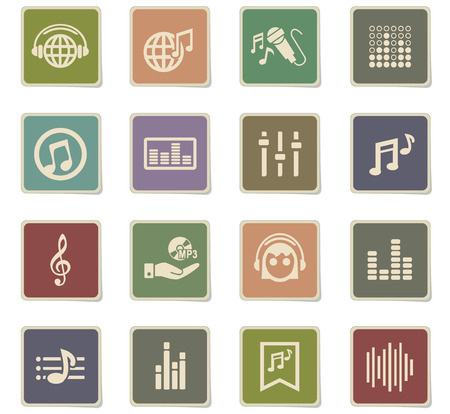 musical web icons for user interface design