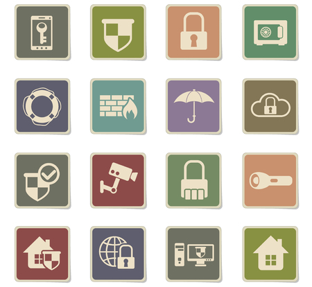 security vector icons for web and user interface design Standard-Bild - 105951930