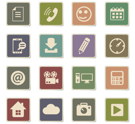 social media vector icons for web and user interface design