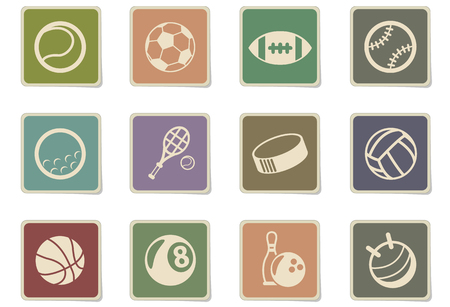 sport balls vector icons for web and user interface design 向量圖像