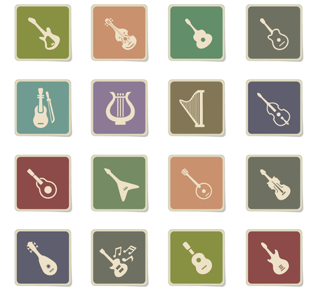 string instruments web icons for user interface design