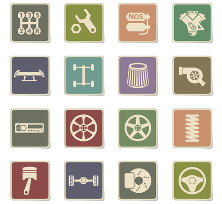 auto tuning vector icons for web and user interface design Stock Vector - 112214685