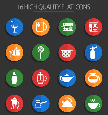 utensils for beverages vector icons for web and user interface design