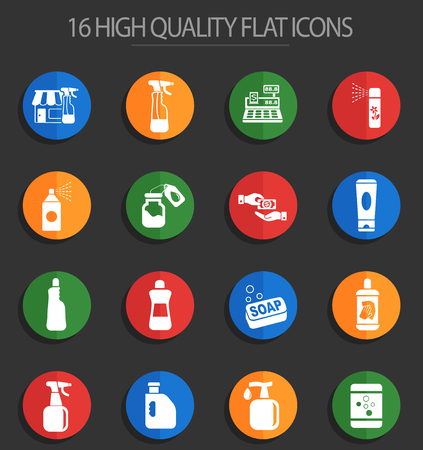chemicals store web icons for user interface design Illustration