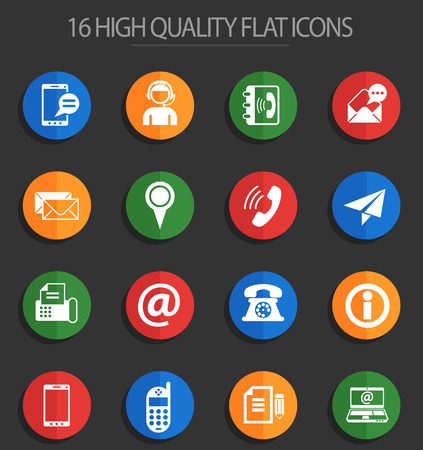contact us vector icons for web and user interface design