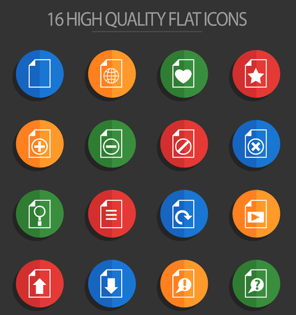 document vector icons for web and user interface design  イラスト・ベクター素材