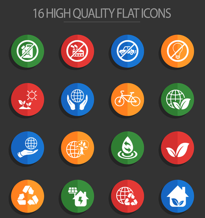 earth day web icons for user interface design