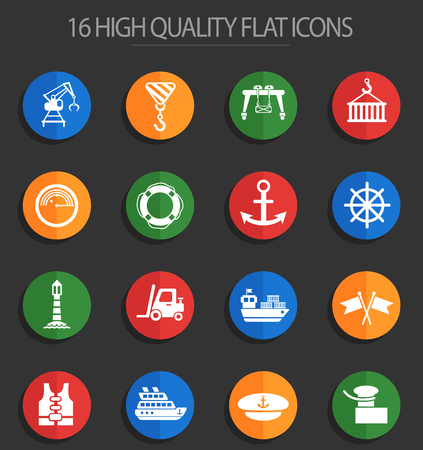harbor web icons for user interface design Illustration