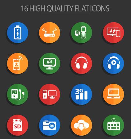 hi tech web icons for user interface design Stock Vector - 112146312
