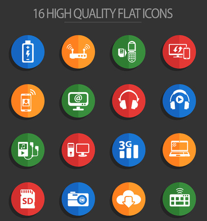 hi tech web icons for user interface design