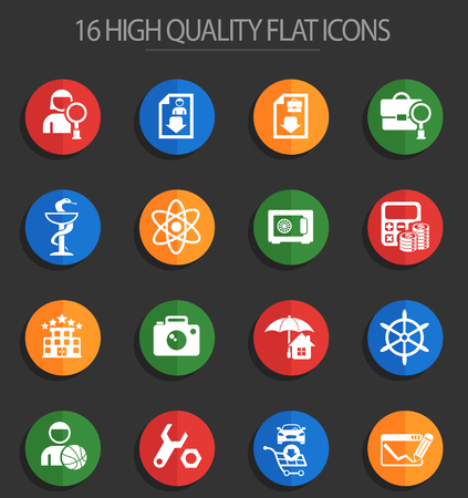 job search vector icons for web and user interface design Illustration